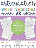 Articulation Activities For R - Vocalic AR Word Searches (all word positions)