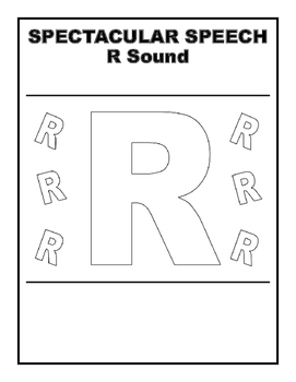 Articulation Workbook R Sound, Speech Therapy