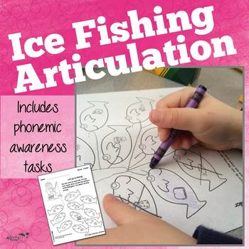 Articulation Worksheets:  Ice Fishing!