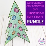 Articulation and Language 3-D Christmas Tree Craftivity BUNDLE