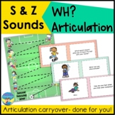 Articulation and Language Activities | S and Z Sounds with