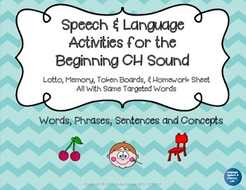 Articulation and Language Activities for the Beginning CH Sound