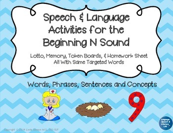 Articulation and Language Activities for the Beginning N Sound