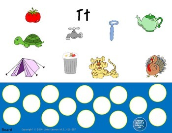 Articulation and Language Activities for the Beginning T Sound