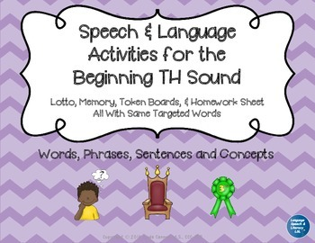 Articulation and Language Activities for the Beginning TH Sound