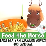 Articulation and Language Activity: Feed the Horse
