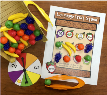 Articulation and Language Fruit Stand Game Companion Mats for Speech Therapy