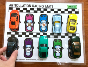 Articulation and Language Racing Mats Toy Companion BUNDLE!