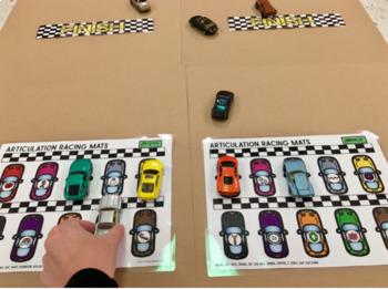 Articulation and Language Racing Mats Toy Companion BUNDLE!