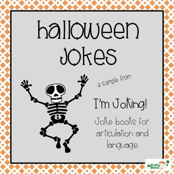 Halloween Jokes for Articulation and Language Therapy
