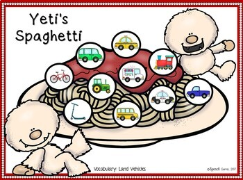 Yeti Spaghetti Articulation and Language Therapy