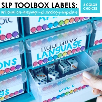 Speech Therapy Toolbox Labels BUNDLED