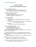 Articulation and Phonology Flashcard Terms