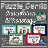 Articulation and Phonology Puzzle Cards