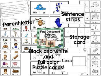 Speech Therapy Articulation and Phonology Puzzle Cards