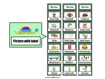 Articulation: /b/ (Medial) Dinosaur Word sliders