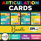Articulation Cards and Worksheets for Speech Therapy: Bundle (R-L-Ch-Sh) sounds