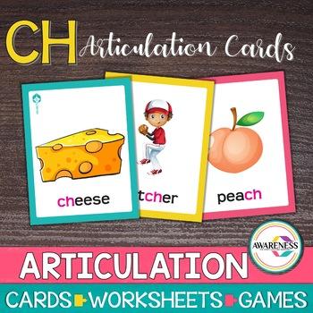 Articulation Cards Games /ch/ sound