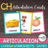 Articulation Cards:Games for Speech Therapy /ch/ sound