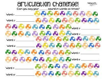 Articulation challenge