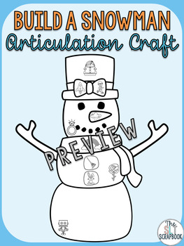Articulation craft- r and r blends- Build a Snowman no prep.