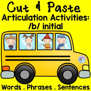 B Articulation Activities Speech Therapy Cut and Paste