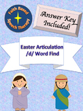 SLP Articulation /d/ Easter Word Find  * Speech Therapy *