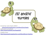 Articulation /f/ and /v/ turtles