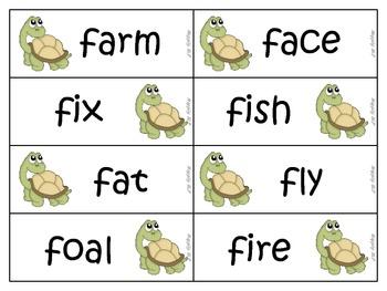 Articulation /f/ and /v/ turtles