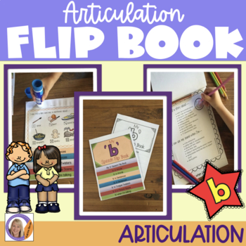 Articulation flip book- 'b' for speech and language therapy