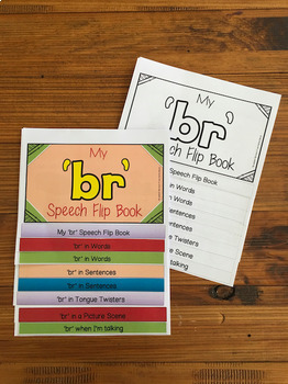 Articulation flip book- 'br' blend for speech and language therapy