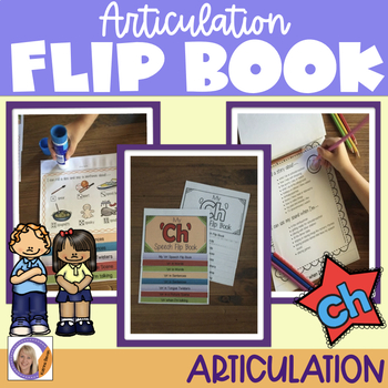 Articulation flip book- 'ch' for speech and language therapy