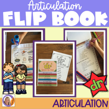 Articulation flip book- 'dr' blend for speech and language therapy