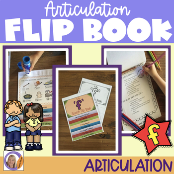 Articulation flip book- 'f' for speech and language therapy