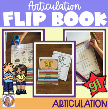 Articulation flip book- 'gl' blend for speech and language therapy