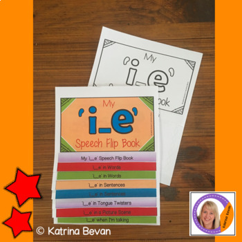 Articulation flip book- 'i_e' vowel sound for speech and language therapy