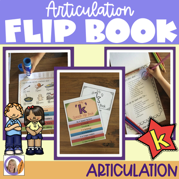 Articulation flip book- 'k' for speech and language therapy