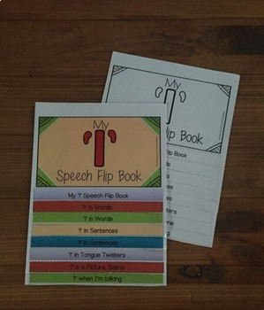 Articulation flip book- 'l' for speech and language therapy