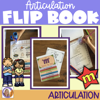 Articulation flip book- 'm' for speech and language therapy