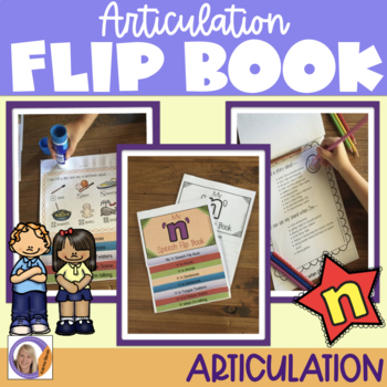 Articulation flip book- 'n' for speech and language therapy