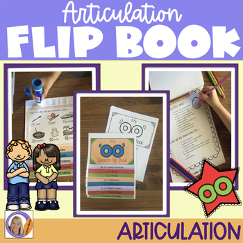 Articulation flip book- 'oo' vowel sound for speech and language therapy