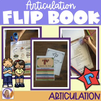 Articulation flip book- 'r' for speech and language therapy