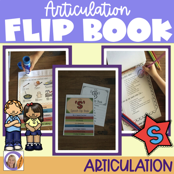 Articulation flip book- 's' for speech and language therapy