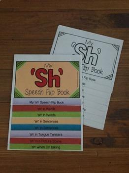 Articulation flip book- 'sh'