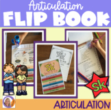 Articulation flip book- 'sk' blend for speech and language therapy