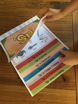 Articulation flip book- 'sl' blend for speech and language therapy