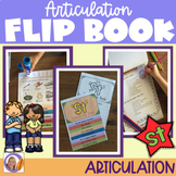 Articulation flip book- 'st' blend for speech and language therapy