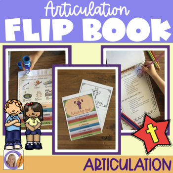 Articulation flip book- 't' for speech and language therapy
