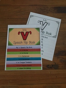 Articulation flip book- 'v' for speech and language therapy