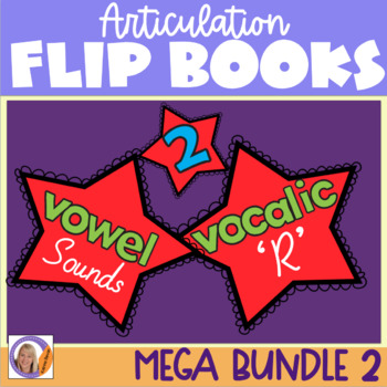 Articulation flip books MEGA Bundle 2! For speech and language therapy